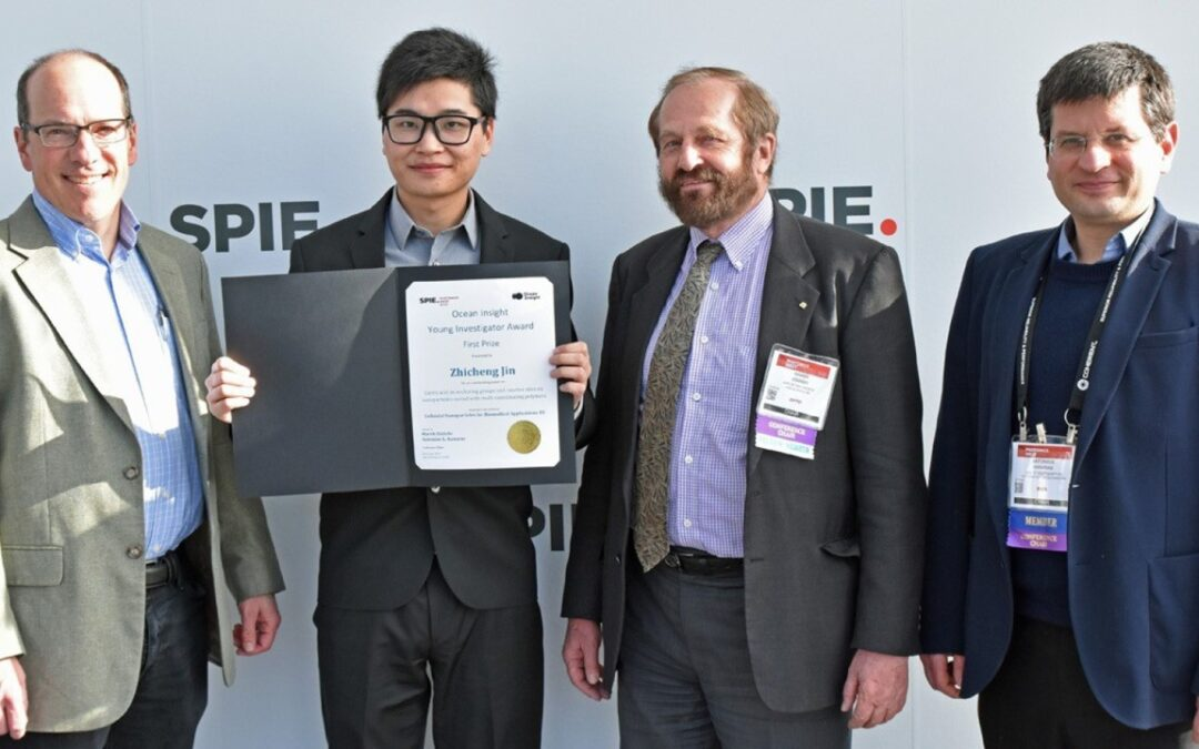 Zhicheng Jin wins Best Presentation Award at SPIE